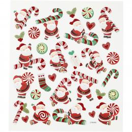 Naklejki Mikołaje z Laskami