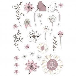 Papierowe tagi Kwiaty 72 szt.