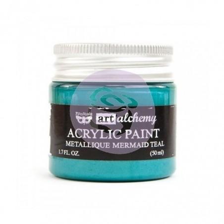 Art Alchemy - Akrylowa Metaliczna Farba - Mermaid Teal