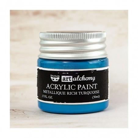 Akrylowa Metaliczna Farba - Błękit
