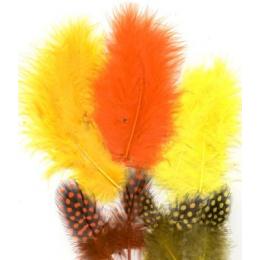 Piórka Marabou & Guinea...