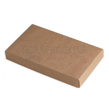 Pudełko na kartkę 3D 19 x 11 x 2,5 cm - kraft