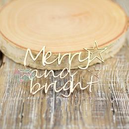Tekturka - Napis Merry and...