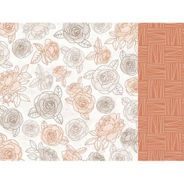 Papier 12x12 Peachy - Honey...