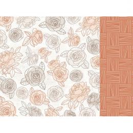 Papier 12x12 Peachy - Honey...