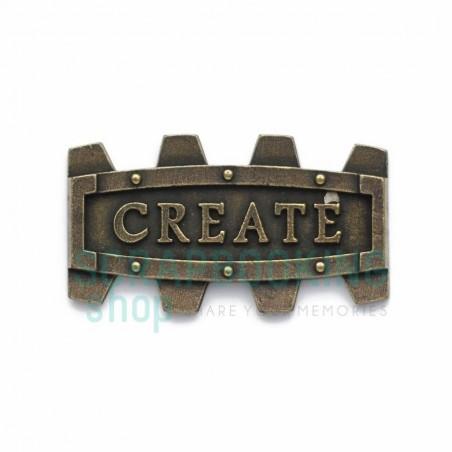 Ramka metalowa antyczne złoto - Create