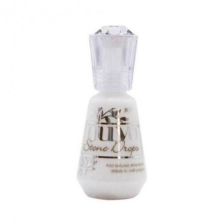 Nuvo - Perełki w płynie - Chalk White - Stone Drops