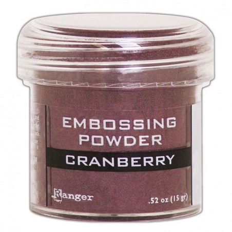 Metaliczny puder do embossingu - Cranberry