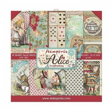 Blok papierów 12x12 - Alice - Stamperia