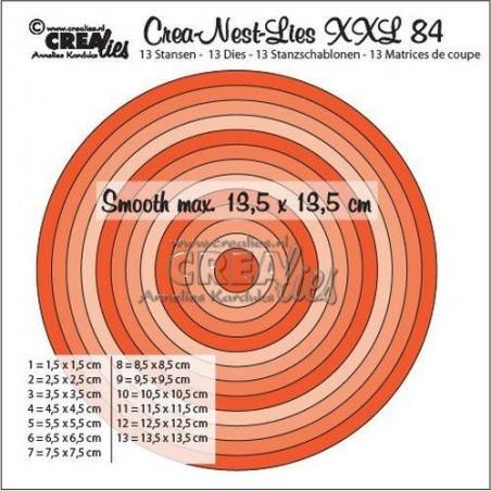 Wykrojniki Crealies - Crea-Nest XXL nr 84 - Koła