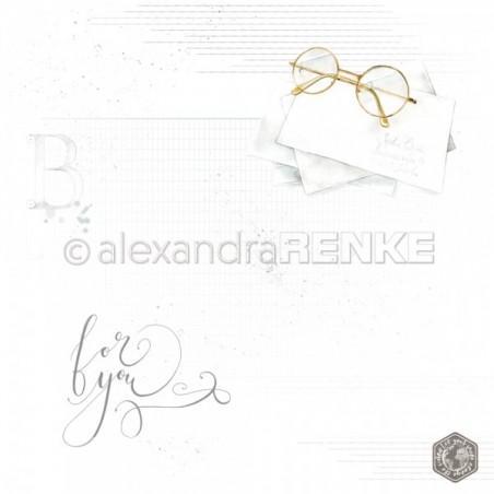 Papier 30,5 cm x 30,5 cm - Glasses with pattern