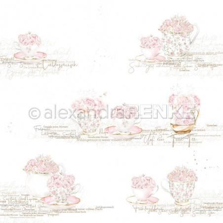 Papier 30,5 cm x 30,5 cm - Roses in cups