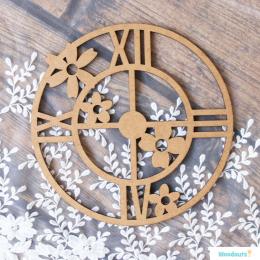 Zegar z kwiatami duży 20 cm