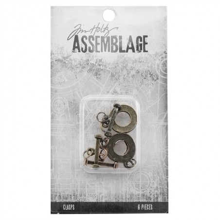 Metalowe zapięcia toggle - Assemblage - Tim Holtz