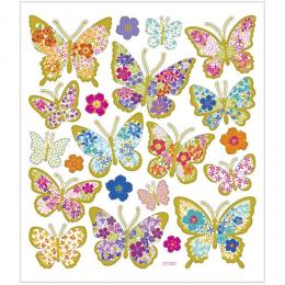 Naklejki Motyle w Kwiaty