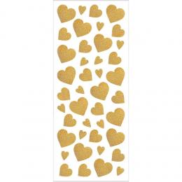 Naklejki brokatowe Złote Serca