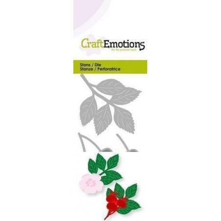 Wykrojniki CraftEmotions - Rosehip 3D - Dzika róża