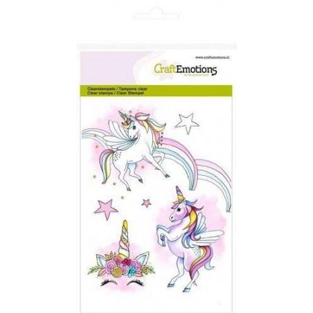 CraftEmotions - Stemple akrylowe - Unicorn - Jednorożec