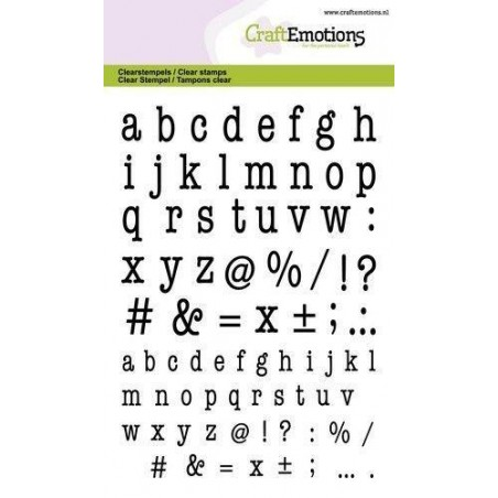 CraftEmotions - Stemple akrylowe - Lowercase alphabet typewritter - Alfabet