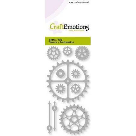 Wykrojniki CraftEmotions - Gears, clock pionters