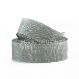 Wstążka vintage 1m - Grey Mist