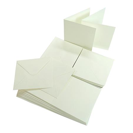 Baza na kartkę  A6  plus koperta - biała